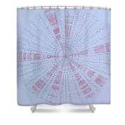 Prime Number Pattern P Mod 30 Shower Curtain by Jason Padgett