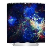 Tarantula Nebula 3 Shower Curtain by Jennifer Rondinelli Reilly - Fine Art Photography