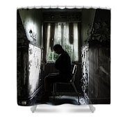 The Asylum Project - Waiting For The Miracle Shower Curtain by Erik Brede