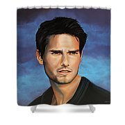 Tom Cruise Shower Curtain by Paul Meijering
