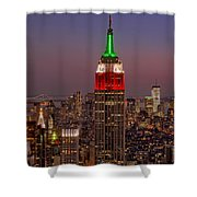 Top Of The Rock Shower Curtain by Susan Candelario