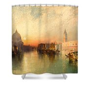 View Of Venice Shower Curtain by Thomas Moran