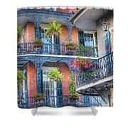 0255 Balconies - New Orleans Shower Curtain by Steve Sturgill