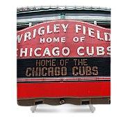 0334 Wrigley Field Shower Curtain by Steve Sturgill