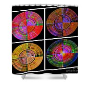 0454 Abstract Thought Shower Curtain by Chowdary V Arikatla