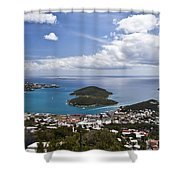 0457 St Thomas Us Virgin Islands Shower Curtain by Steve Sturgill