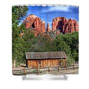 0682 Red Rock Crossing - Sedona Arizona Shower Curtain by Steve Sturgill