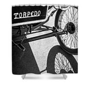 1911 Ford Model T Torpedo Grille Emblem Shower Curtain by Jill Reger
