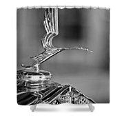 1931 Lasalle Hood Ornament Shower Curtain by Jill Reger