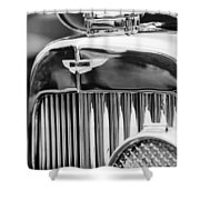 1934 Aston Martin Mark II Short Chassis 2-4 Seater Grille Emblem Shower Curtain by Jill Reger