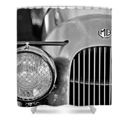 1934 Mg Pa Midget Supercharged Special Speedster Grille Shower Curtain by Jill Reger