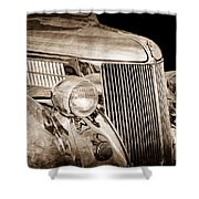 1936 Ford - Stainless Steel Body Shower Curtain by Jill Reger