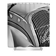 1937 Peugeot 402 Darl'mat Legere Special Sport Roadster Recreation Grille Emblem Shower Curtain by Jill Reger