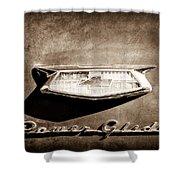1954 Chevrolet Power Glide Emblem Shower Curtain by Jill Reger