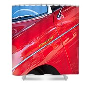 1955 Porsche 356 Speedster Shower Curtain by Jill Reger
