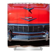 1956 Chevrolet Belair Convertible Custom V8 Shower Curtain by Jill Reger