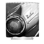 1957 Ford Ranchero Pickup Truck Taillight Shower Curtain by Jill Reger