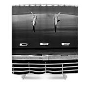 1958 Dodge Coronet Super D-500 Convertible Hood Ornament Shower Curtain by Jill Reger