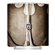 1960 Volkswagen Vw Hood Emblem Shower Curtain by Jill Reger