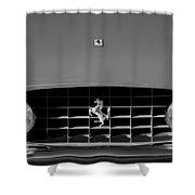 1963 Ferrari Grille Emblem Shower Curtain by Jill Reger