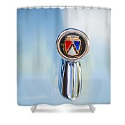1963 Ford Falcon Futura Convertible  Hood Ornament Shower Curtain by Jill Reger