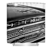 1963 Ford Galaxie 500xl Taillight Emblem Shower Curtain by Jill Reger