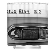 1965 Lotus Elan S2 Taillight Emblem Shower Curtain by Jill Reger