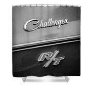 1970 Dodge Challenger Rt Convertible Emblem Shower Curtain by Jill Reger