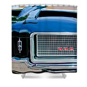 1972 Oldsmobile 442 Grille Emblem Shower Curtain by Jill Reger