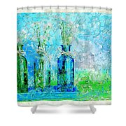 1-2-3 Bottles - S13ast Shower Curtain by Variance Collections