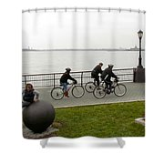 After Hurricane Sandy Shower Curtain by Randi Shenkman