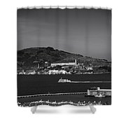 Alcatraz Island Shower Curtain by Mountain Dreams