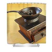Antique Coffee Grinder Shower Curtain by John Van Decker
