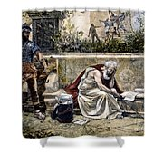 Archimedes  Shower Curtain by Granger