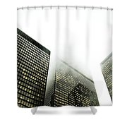 Architectural Photographs Of Business Shower Curtain by David Wile