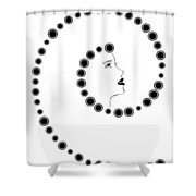 Art Nouveau Design Shower Curtain by Frank Tschakert