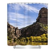 Autumn In Glenwood Canyon - Colorado Shower Curtain by Brian Harig