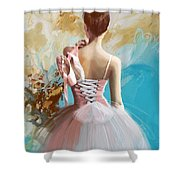 Ballerina's Back Shower Curtain by Corporate Art Task Force