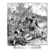 Battle Of Bunker Hill, 1775 Shower Curtain by Granger
