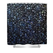 Black Rain Shower Curtain by Donna Blackhall