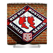 Boston Red Sox 1912 World Champions Shower Curtain by Stephen Stookey
