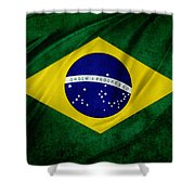 Brazilian Flag Shower Curtain by Les Cunliffe