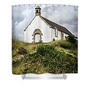 Breton Church Shower Curtain by Elena Elisseeva