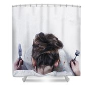 Burnout Shower Curtain by Joana Kruse