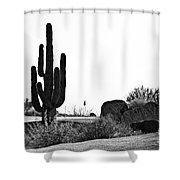 Cactus Golf Shower Curtain by Scott Pellegrin