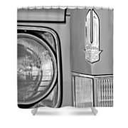 Cadillac Headlight Emblem Shower Curtain by Jill Reger