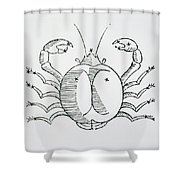 Cancer An Illustration Shower Curtain by Italian School