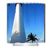 Cape Florida Lighthouse Shower Curtain by Photographic Art and Design by Dora Sofia Caputo