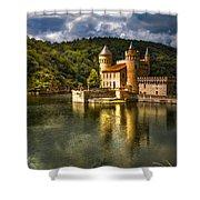 Chateau De La Roche Shower Curtain by Debra and Dave Vanderlaan