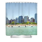 Chicago North Avenue Beach Shower Curtain by Patrick  Warneka